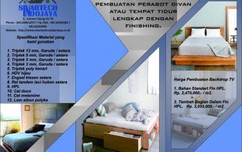 Jasa Pembuatan Perabot Tempat Tidur Lengkap dengan Finishing